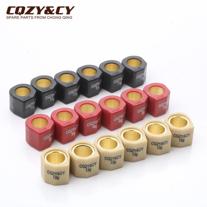 6PC Desempenho de Corrida Conjunto de Rolos Sliders 20x17mm para Aprilia Leonardo 125 150 Scarabeo 125 Scarabeo Mot Rotax 200