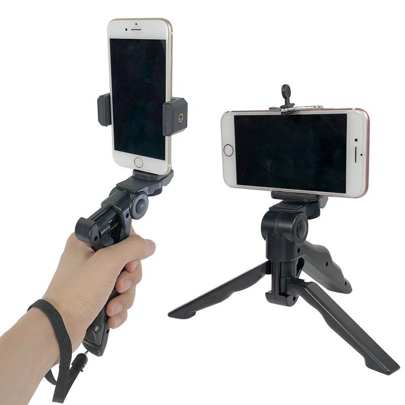 Desktop Live Mobile Phone Bracket Tripod Handheld Holder for GoPro Sports Action Camera for iPhone Samsung Smartphone Accessory