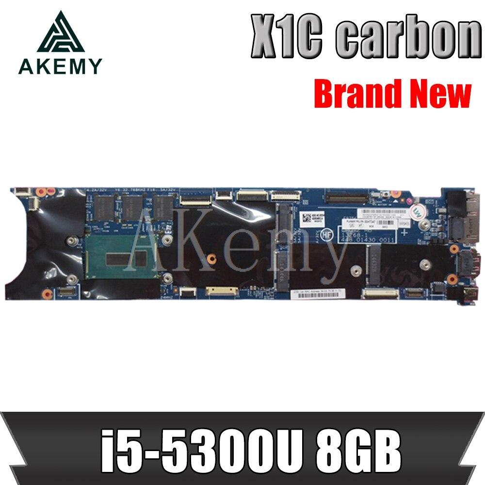 Placa base para For Lenovo ThinkPad X1 X1C de carbono, placa base para portátil con i5-5300U CPU 8GB RAM X1C placa base X1C
