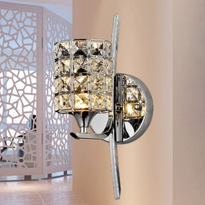 Modern Wall Lamp K9 Crystal Sconce wall light G9 Hotel Bedroom Stairs Home Indoor Decoration Fixtures
