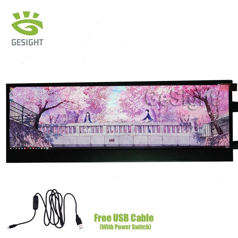 8.8 بوصة شاشة الكريستال السائل HSD088IPW1-A00 1920x480 شاشة LCD سطوع تحكم لوحة للقيادة لأداة السيارات