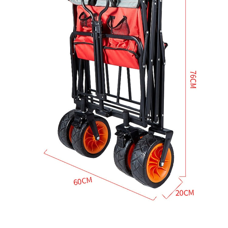 Outdoor Beach Picnic Camping Wagon Camping Cart Garden Trail Foldable Collapsible Folding Utility Cart Wagon Out Door Trolley