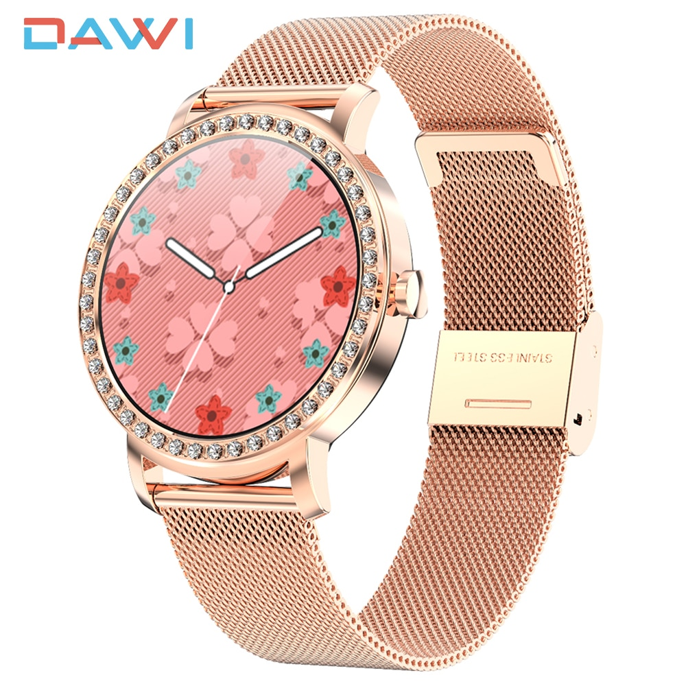 DAWI Smart Watch Women Fitness Tracker Smart Bracelet Luxury Fashion Ladies Watch Heart Rate Monitor