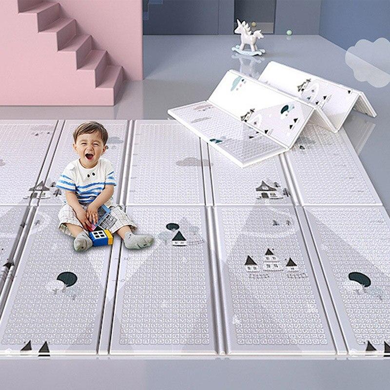 سجادة لعب للأطفال XPE سجادة أنشطة للأطفال قابلة للطي محمولة على الوجهين سجادة تعلم الأبجدية ألعاب تعليمية للأطفال