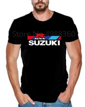 New Summer Suzuki Gsxr Gsx R Print Short Sleeve Tshirt Hip Hop 1N23456 Funny Printed Motorcycle Cotton Funny T Shirt Men