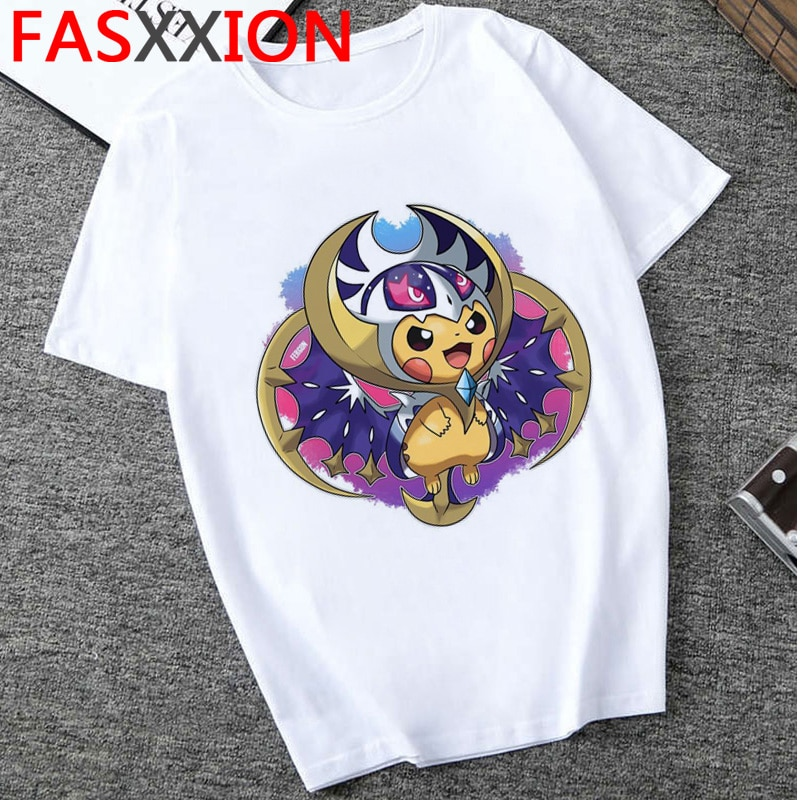 Camiseta de Pokémon para hombre, Harajuku de moda 2020 90s Pikachu Kawaii, Camiseta con estampado de dibujos animados, bonita camiseta de Hip Hop para hombre