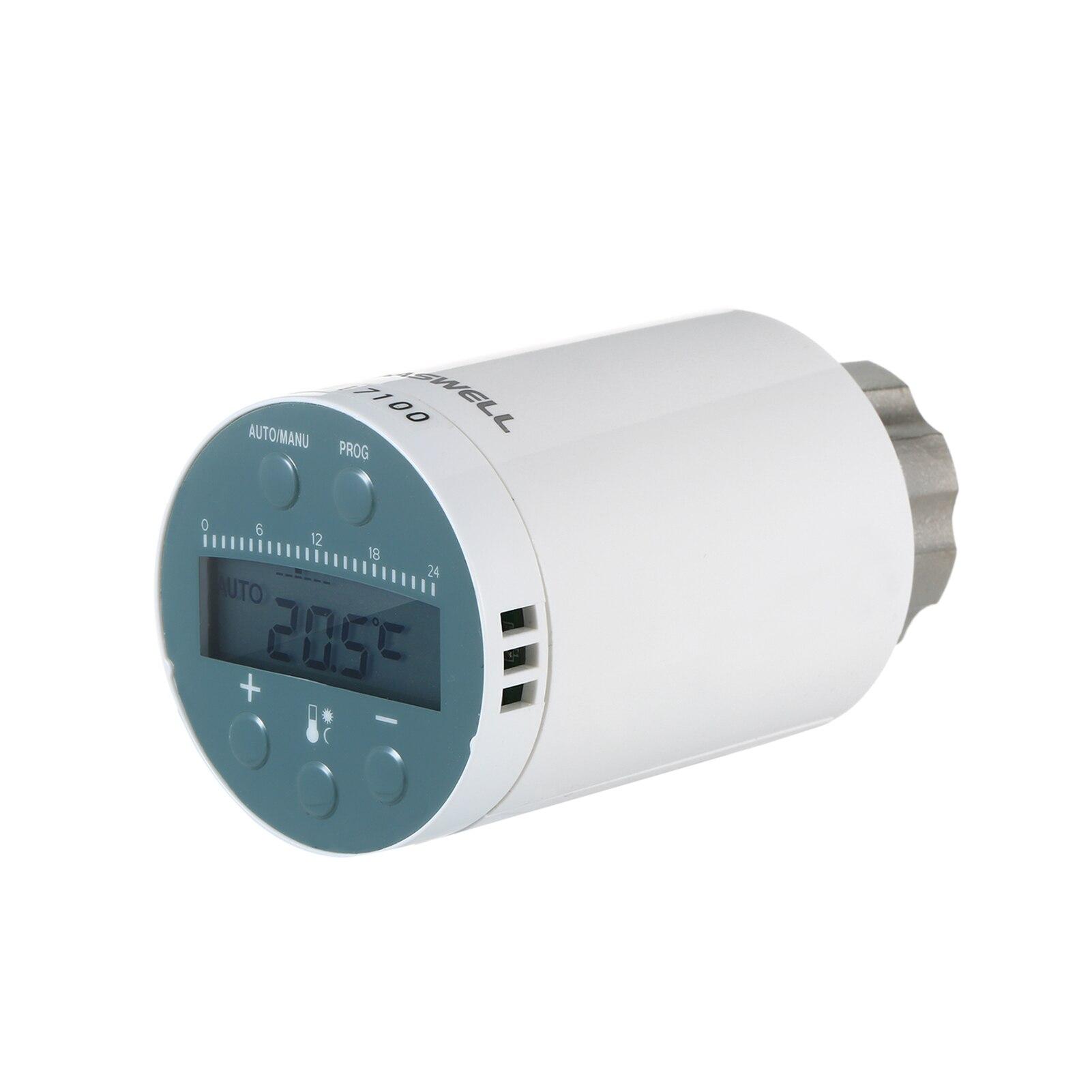 SEA801-ZIGBEE الذكية التدفئة المبرد ترموستات لالامازون اليكسا جوجل برمجة المشعاع الحراري Valv تحكم