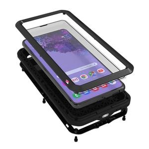 Image 1 - Металлический чехол для Samsung s21 Plus, чехол для телефона, сверхпрочная защита, стеклянный чехол для Samsung galaxy S21, противоударные чехлы