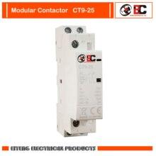 CT9-25 2P 25A 110V ~ 230V ~ 50/60HZ modulaire contacteur Standard guide rail installation IEC/EN61095