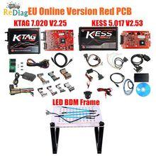 KESSV2 KESS V2 V5.017 rouge ue   V2.53/V2.23 ECM, titane KTAG V7.020 4 en ligne, Version principale ECU OBD2 programmateur voiture/camion, 2020