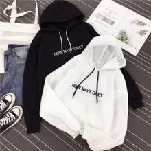 Korean Sweatshirt Women Lazy Style Hoodies 2021 Spring Autumn New Thin Long Sleeve Loose Letter Prin
