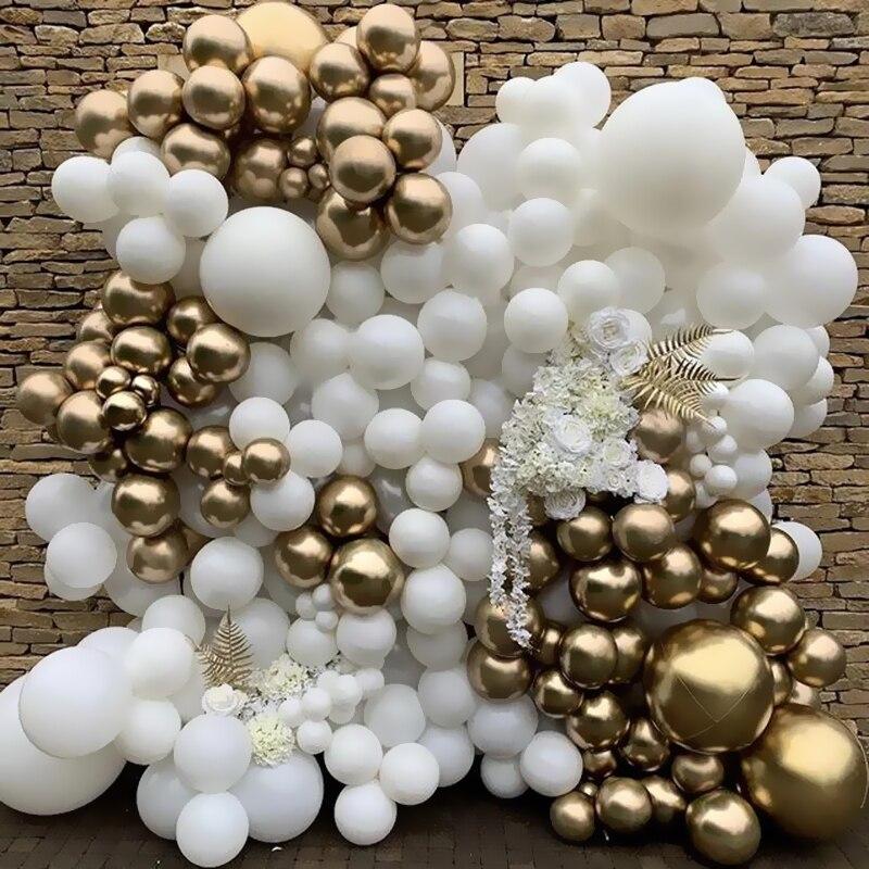 Globos de alto grado de oro blanco para fiesta de boda 10-30...