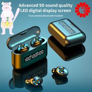 TWS Bluetooth Wireless Headphones 2200mAh Charging Box Sports Waterproof music Earbuds Bluetooth 5.0 Earphone With Microphone
