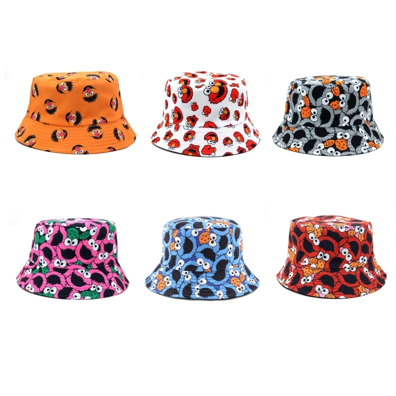 Мультяшный принт панама шляпа женская Двусторонний износ шляпа панама мужская панама женская кепка, кепка панамка шляпа Прекрасный шляпа ж...