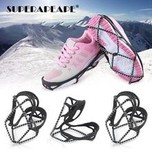 Bottes élastiques antidérapantes, 1 paire, cache-neige, couvertures de chaussures, Crampons élastiques antidérapants, pour lhiver
