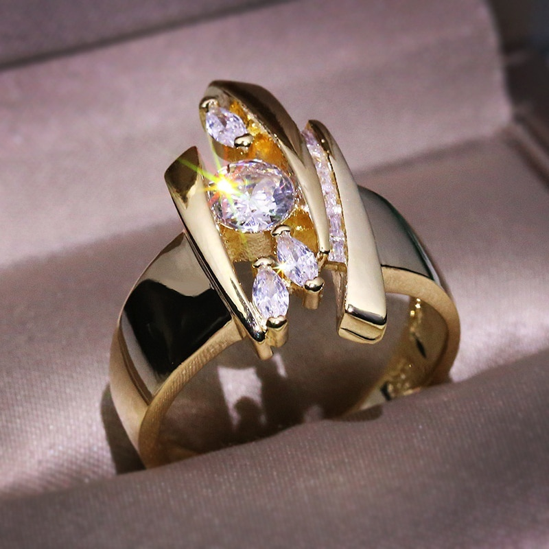 Nova moda vintage anéis para mulher cor de ouro rirregular retângulo personalidade um e só sepcial quadro design anéis 30t262