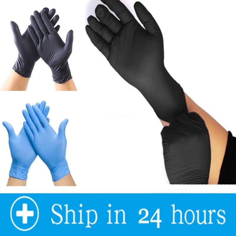 ¡Caliente! Guantes desechables 20 ~ 100pc guante de látex de nitrilo guantes de cocina de látex Universal guantes desechables guanti monouso