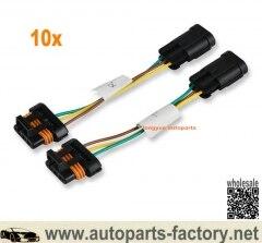 Longyue 10 комплект фар преобразования провода разъемы для проводки Polaris общий до 14-17 RZR 1000 XP светодиодный Разъем адаптеры для сим-карт