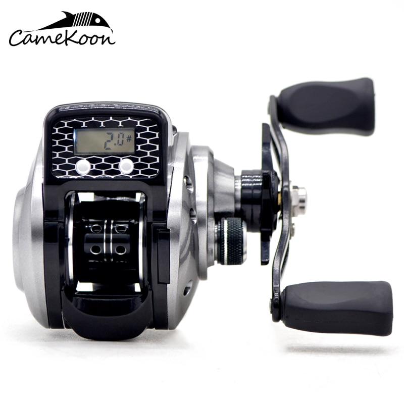 Carrete de baitcasting de CAMEKOON carrete contador de línea de pesca 16 + 1 rodamientos de bolas 6,3 1 pantalla digital electrónica carrete de pesca
