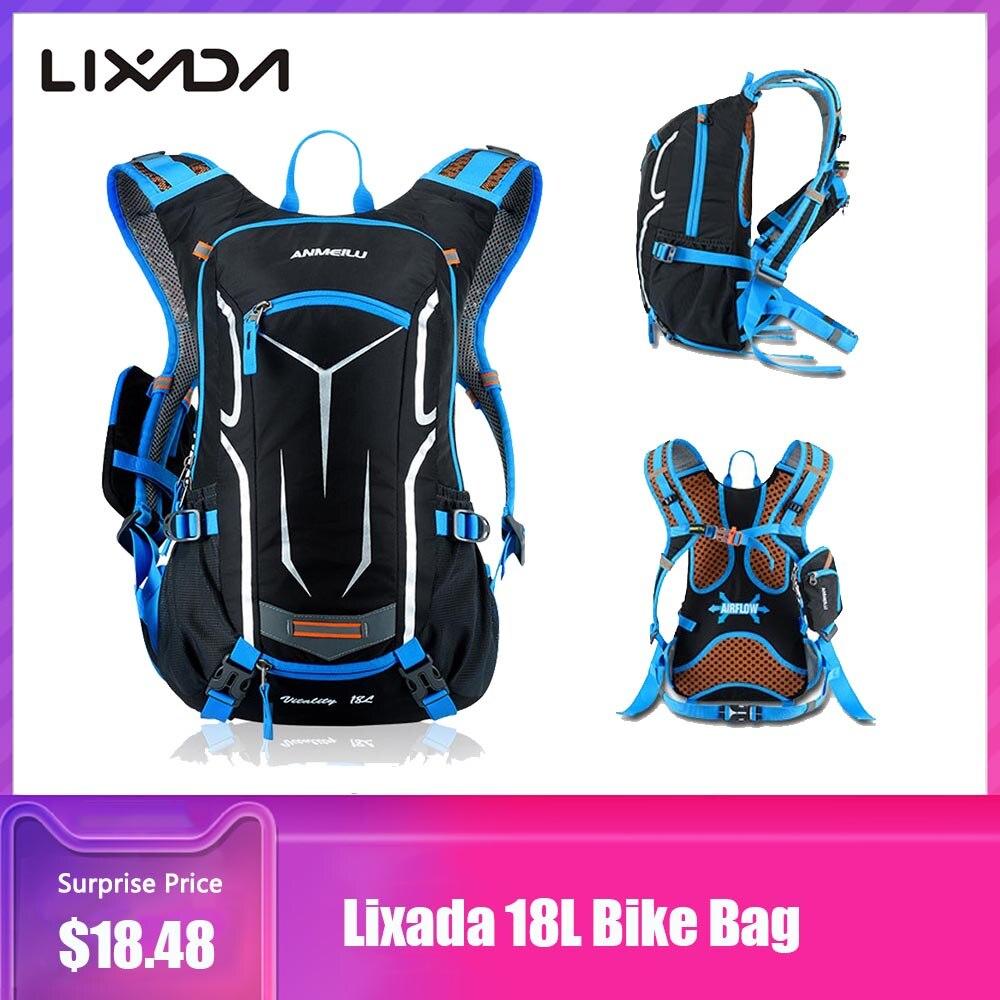 Lixada 18L bicicleta bolsa mochila al aire libre bicicleta bolsa bicicleta deportes al aire libre bolsa montar bicicleta mochila hidratación bolso para motociclista