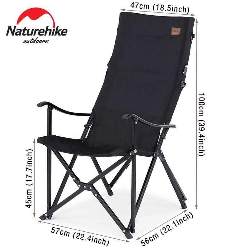 Naturehike Fishing Chair Portable Camping Chair Lightweight Folding Chair Picnic Beach Chair Tourist Chair Outdoor Relax Chair enlarge