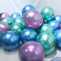 30pcs 12inch mermaid multicolor chrome latex balloons pearly metal globos wedding baby birthday party decoration mearmaid theme