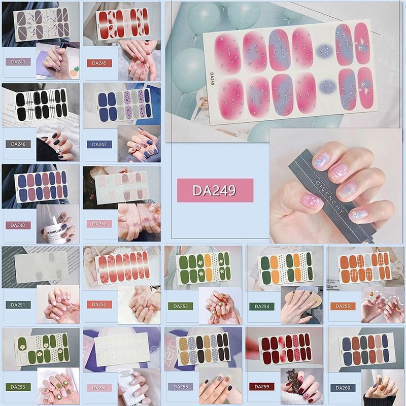 Adhesivo de láminas para uñas DIY de LADY KINDOM, envolturas impermeables para uñas, patrón bonito de dibujos animados, adorno de uñas, parche para uñas para mujeres (DA241-DA261)