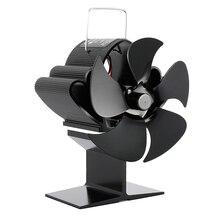 Poêle ventilateur Effecient 4 chaleur lame cheminée ventilateur alimenté bûche bois brûleur Ecofan silencieux ventilateur maison Distribution de chaleur pour la maison