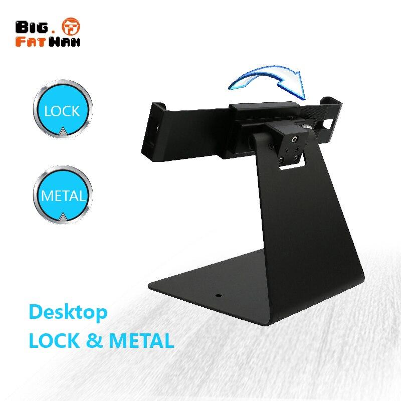 Universal tablet Multi-winkel rotation sicherheit desktop halter für 8 10 11 12,9 lock display halterung montage anti-diebstahl
