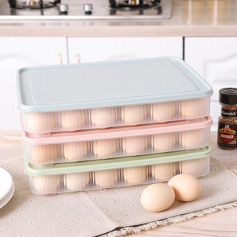 24 Grids Ei Box Organizer Küche Kühlschrank Lagerung Box für Lebensmittel Eier Lagerung Box Container Ei Tray Halter Küche Liefert
