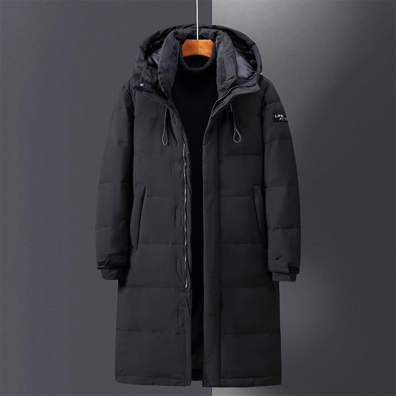 Высококачественный пуховик и удобная мужская Длинная утепленная куртка для пар, зимние теплые куртки больших размеров vrводы