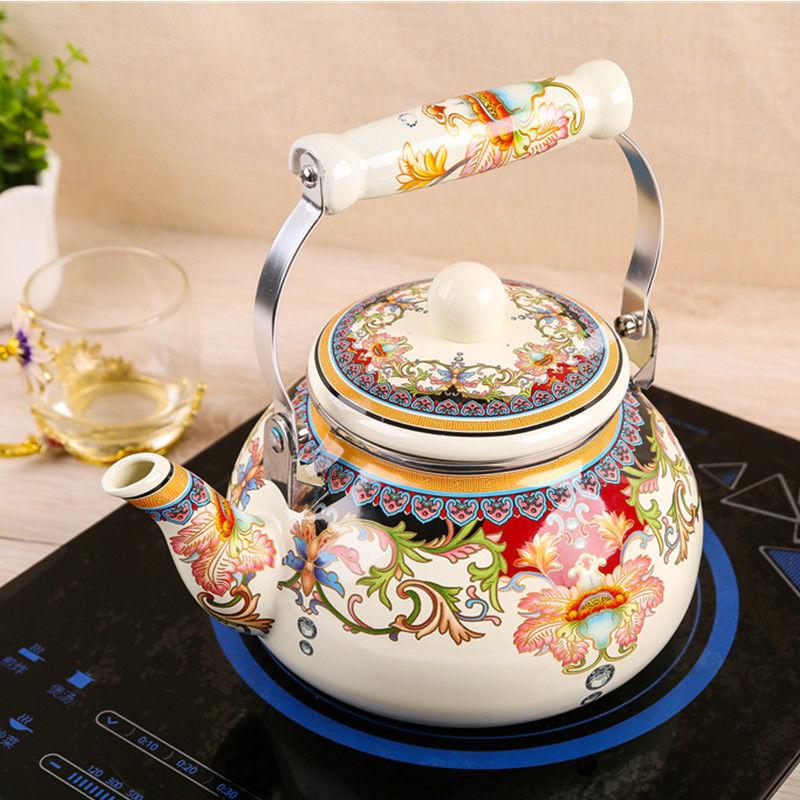 2,5 литр эмаль чайник электрический чайник кувшин чайник домашний бытовой газовый газовая, индукционная плита эмалированная кастрюля чайник со свистком графин для воды