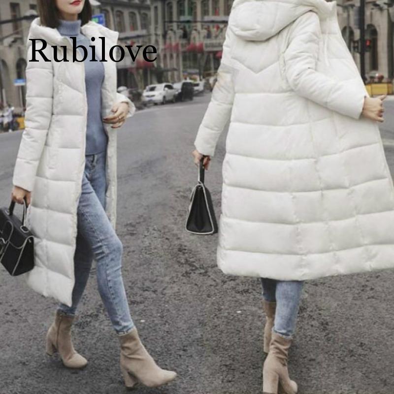 Rubilove 2019, зимняя куртка, Женская парка, пальто, плюс размер, M-6XL, модный пуховик, длинный, с капюшоном, пуховик, толстое, длинное пальто, куртка д...