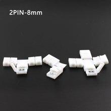 5 Stks/partij Led Strip Connector Gratis Lassen L X T Vorm Sluit 2Pin 3Pin 4Pin 5Pin 10Mm Voor WS2812B 2835 5050 Rgb Rgbw Led Strip