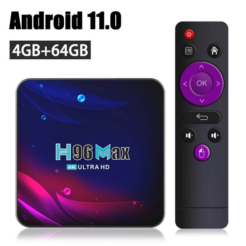Android 11.0 TV BOX Google Voice Assistant 3D 4K HDR TV Receiver WiFi 2.4G&5.8G Bluetooth-compatible