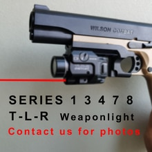 TLR Compact LED Weapon Light With Red Laser Sight For Pistol Hunting Glock 1 3 4 7 8 Laser Flashligh