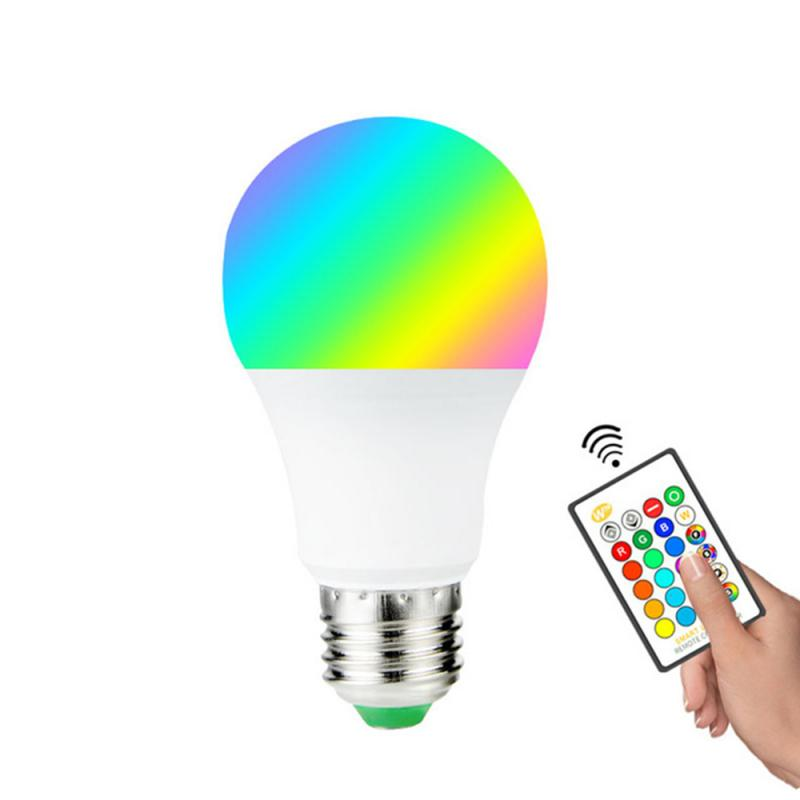 E27 Smart Control Lamp LED RGB Light Dimmable 3W 5W 10W 15W RGBW Led Lamp Colorful Changing Bulb LED Lampada White Decor Home