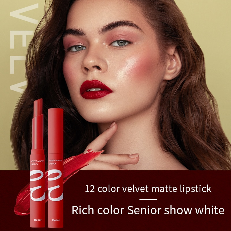 12 Colors Lipstick Easy To Wear Long-lasting Lip Glaze Non-stick Cup Lip Glaze Moisturize Women Make