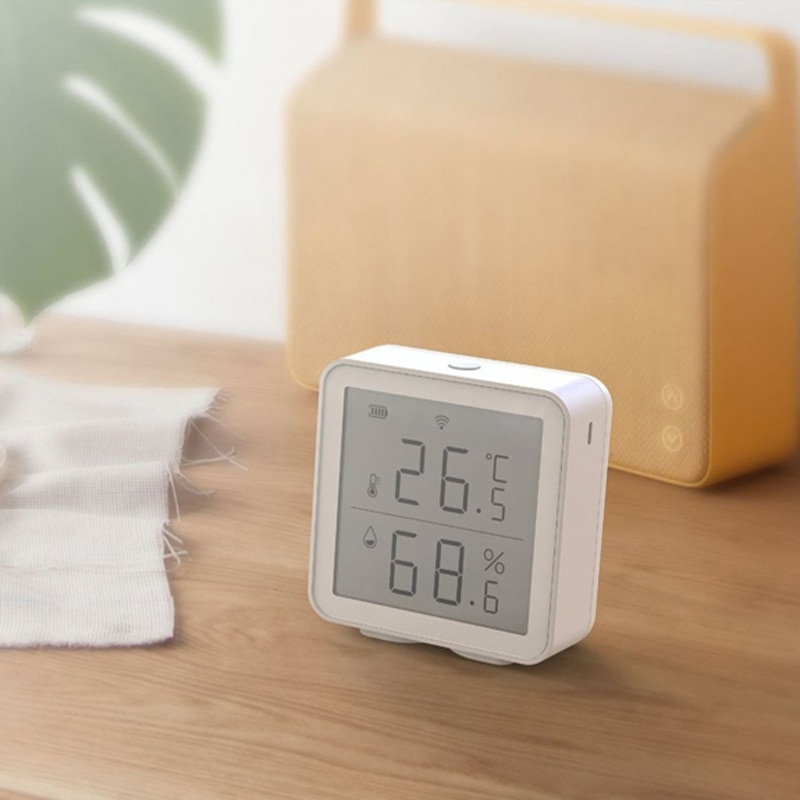WIFI Temperature And Humidity Sensor With LCD Screen Display Home Temperature Heat Detector Smart Life
