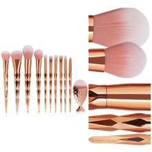 11Pcs Diamond Makeup Brush Set Women\\\'s Fashion Brushes Foundation Powder Brushes