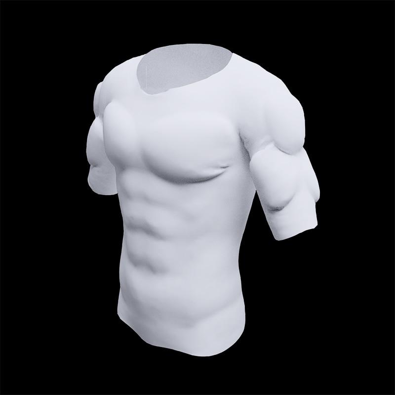 Для мужчин ABS невидимые прокладки формирователь поддельные Мышцы Грудь Топы мягкая защита мужской губки усилители майка