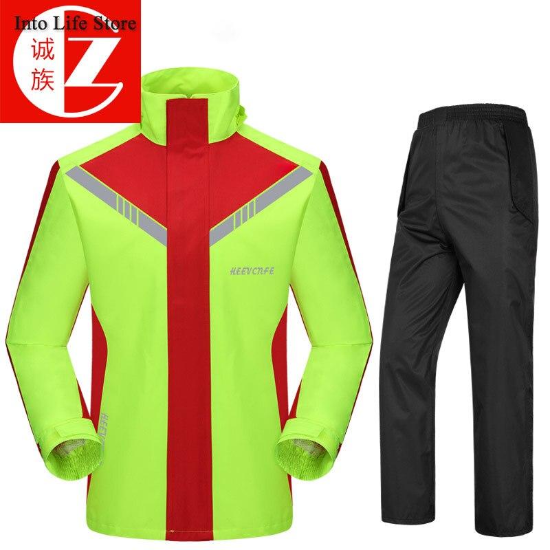 Motorcycle Raincoat Men Waterproof Man Poncho Rain Coat Pants Set Adult Black Rain Jacket Outdoor Camping Fishing Gift Ideas enlarge
