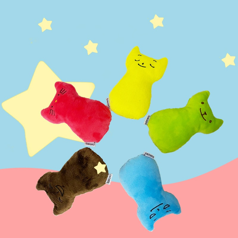 Catnip cat toy plush molar interactive thumb toy interactive plush cat toy pet kitten chew toy claw resistant thumb bite toy electric cat toys plush interactive electronic bite resistant chew molar moving dancing fish toy kitten grinding claw