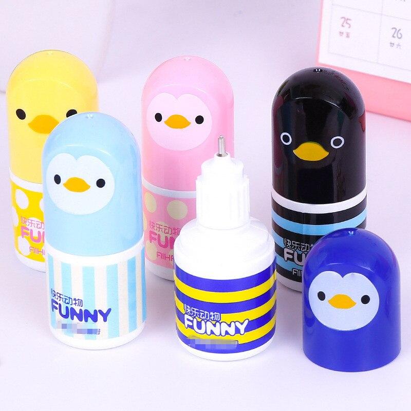 Cinta correctora de líquido Kawaii, 1 unidad, cinta correctora creativa, suministros para oficina y escuela, artículo de papelería bonito, novedad de Chick