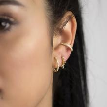 ROXI Punk Stil Niet Spike Stud Ohrring 925 Sterling Silber Kreis Huggie Piercing Ohrringe Für Frauen Mode Schmuck ohrringe
