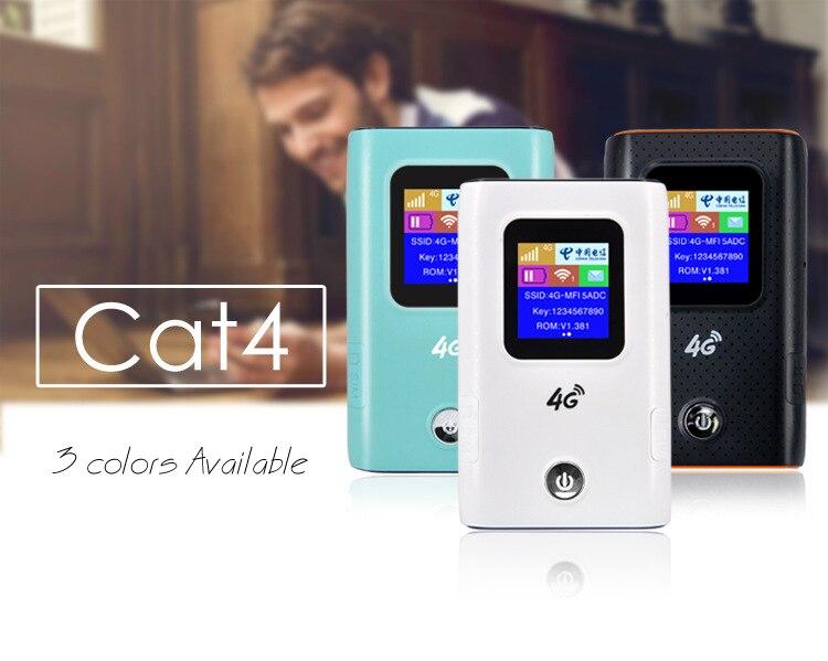 4g mifi lte fdd tdd portatil bolso wifi roteador hotspot modem com banco de energia da bateria