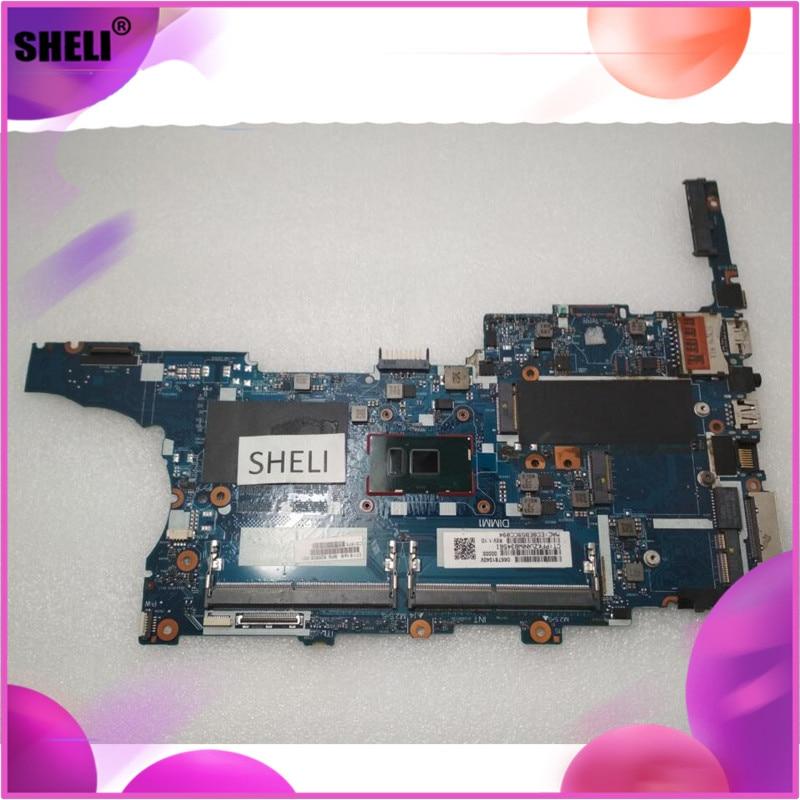 SHELI 826806-001 para HP 840 G3 Placa base con SR2F0 i5-6300U CPU 6050A2728501-MB-A01