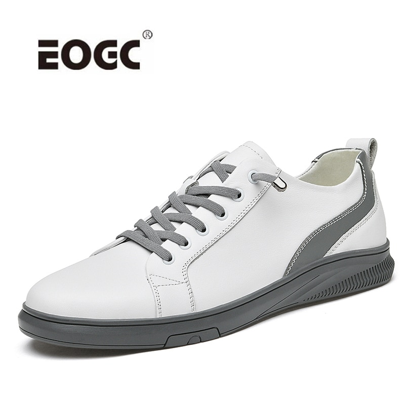 Breathable Men Shoes Non-Slip Genuine Leather Casual Shoes Flats Lace Up Fashion Sneakers Outdoor Shoes Men Zapatos Hombre breathable outdoor shoes men breathable lace up casual shoes flats quality comfortable men shoes zapatos hombre