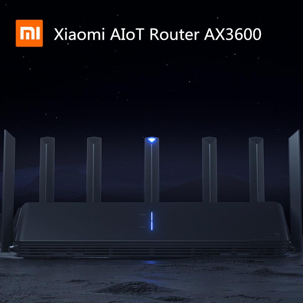 NEW Xiaomi AX3600 AIoT Router Wifi 6 5G Wifi6 600Mb Dual-Band 2976Mbs Gigabit Rate Qualcomm A53 External Signal Amplifier