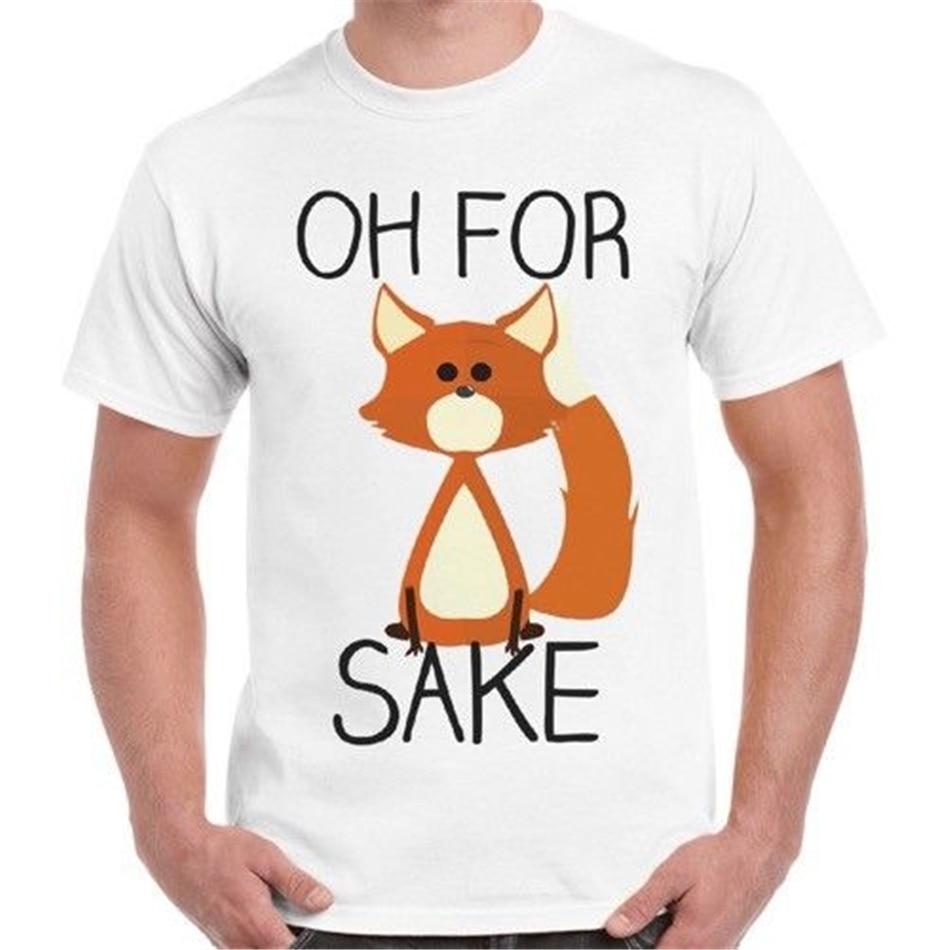 Oh por Sake Fox divertido Cool moda eslogan Vintage Retro camiseta 2290 Camiseta clásica única Tops
